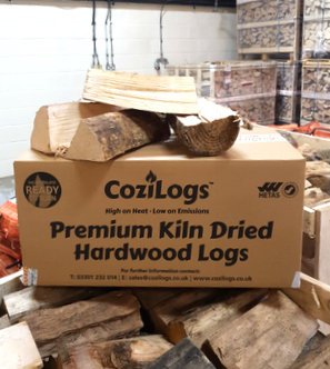 Kiln dried British logs for pizza oven